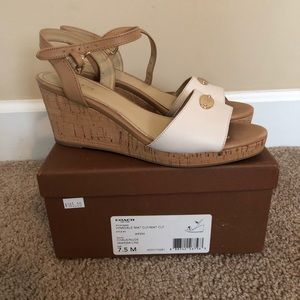 Coach leather wedges size 7.5